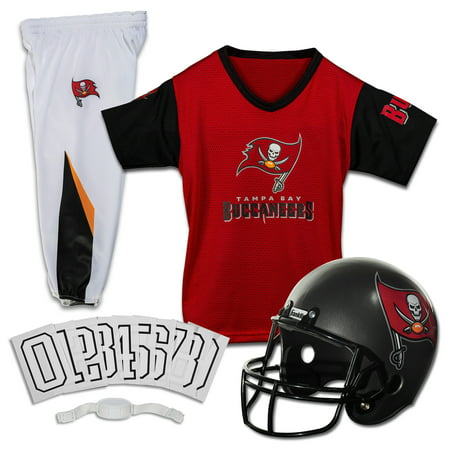 Franklin Sports NFL Tampa Bay Buccaneers Youth Licensed Deluxe Uniform Set, Medium