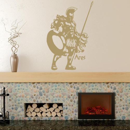 Ares Vinyl Wall Art Decal 47in x 70in Yellow