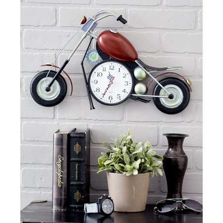 The Lakeside Collection Motorcycle Clock