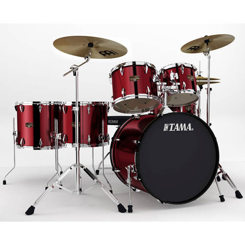 Tama Imperialstar 6-Piece Complete Drum Kit with Hardware and Cymbals, Vintage Red