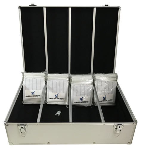 CheckOutStore Silver Aluminum CD/DVD Hanging Sleeves Storage Box (Holds 1000 Discs)