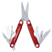 LEATHERMAN - Micra Keychain Multitool with Spring-Action Scissors and Grooming Tools, Stainless Steel, Built in the USA, Red