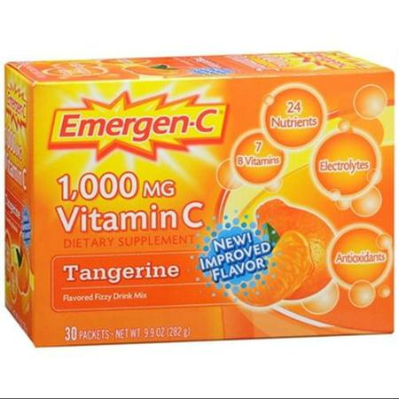 La vitamine C pour boisson Packets mandarine 30 unité (multiple de 2)
