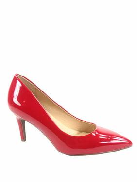 Coen-s Women's Fashion Comfort Pointed Toe Low Heel Pump Dress Shoes