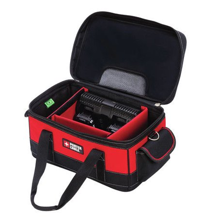 PORTER CABLE 20-Volt Max Dual Port Charger Bag With 2 Batteries,PCCB122C2
