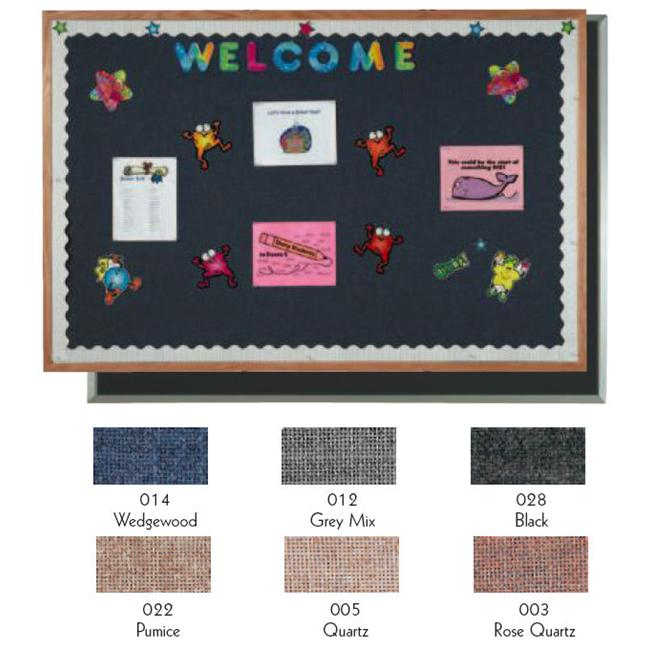 Aarco Products DF4872014 Designer Fabric Bulletin Board Aluminum - Wedgewood