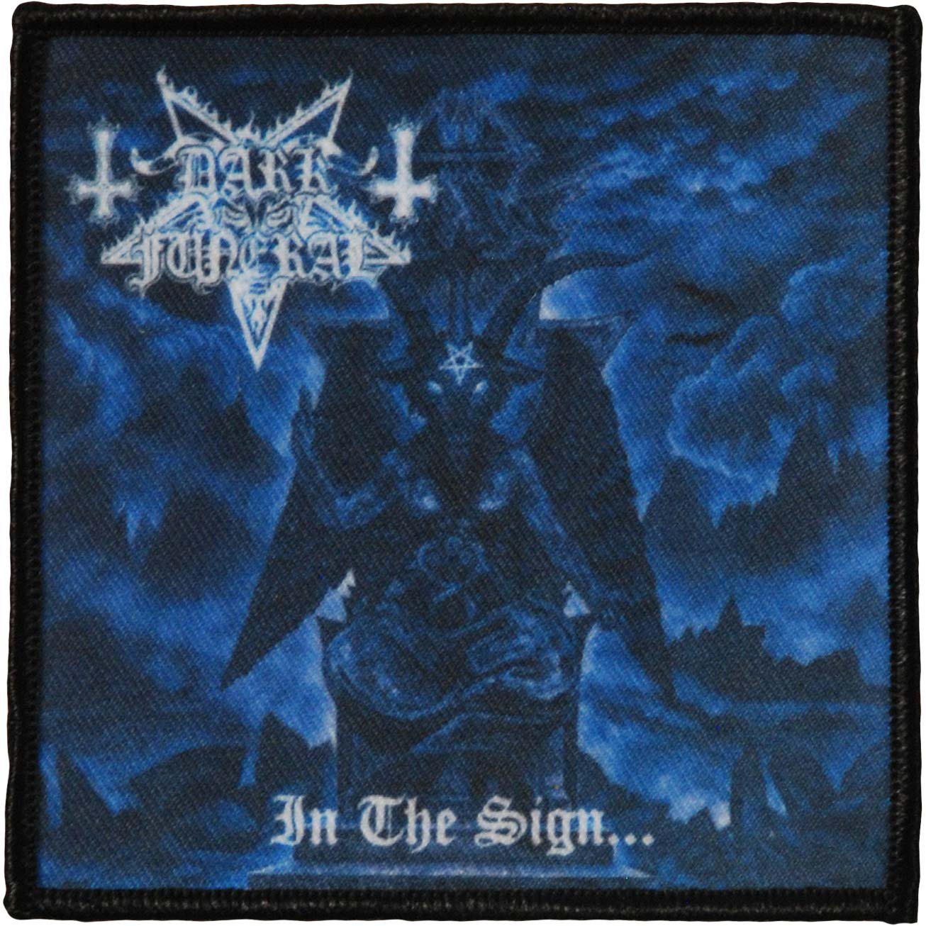 Dark Funeral Men's In The Sign Patch 4 X 4 Woven Patch Black