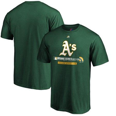 Oakland Athletics Majestic 2019 Japan Opening Series T-Shirt - Green