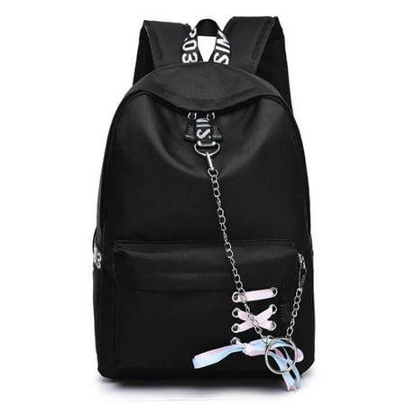 Girls Waterproof Nylon Backpack School Shoulder Bag Women Rucksack Travel Handbag Satchel