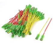 "Motorcycle Car Speaker Green Red Yellow Wire Plug Coil Cable 4.8"" Length 80 Pcs"
