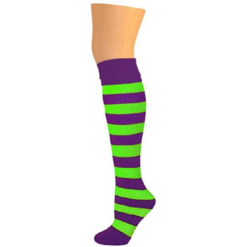 Striped Tights Children/'s Purple And Green