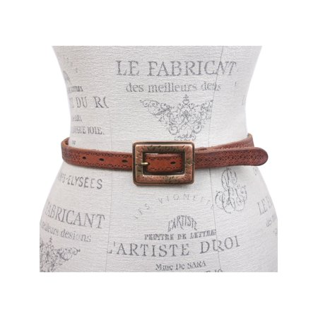 Leatherock Perforated Leather Belt With Rectangular