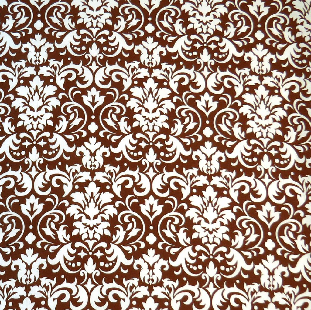 SheetWorld Fitted Bassinet Sheet - Brown Damask