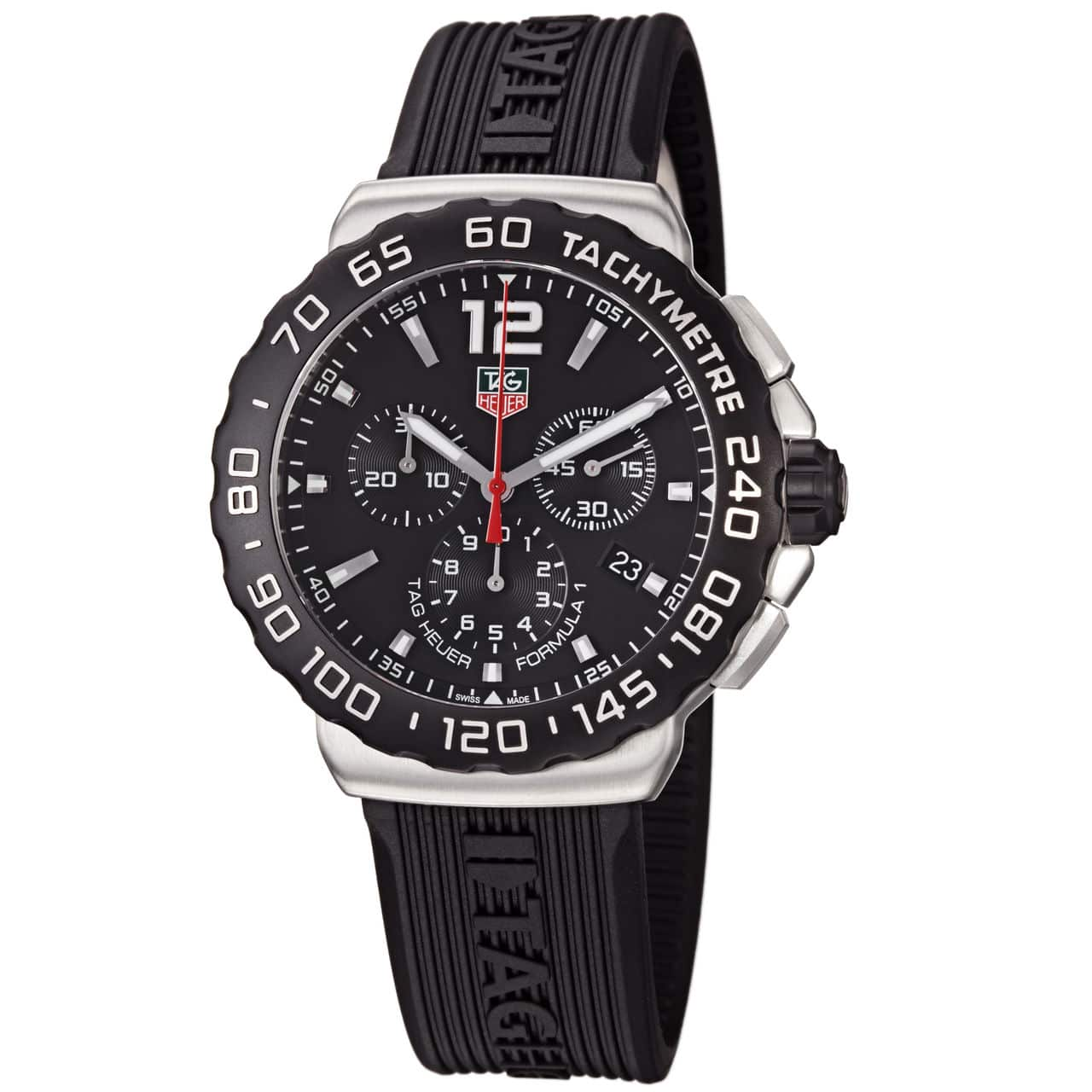 Tag Heuer Formula 1 Chronograph Black Rubber Mens Watch
