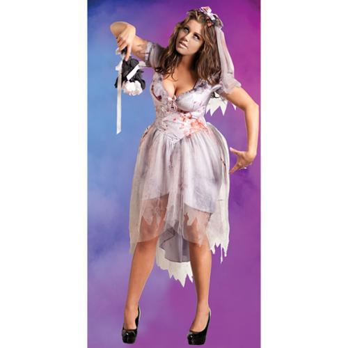 Zombie Bride Adult Costume - Plus Size 1X