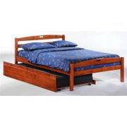 Sesame Full Bed in Cherry w Trundle