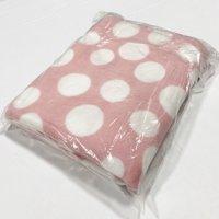 "Shason Textile (2 Yards cut), Large Fun Dots Anti-Pill Fleece, 72""x 60"" Fabric, Pink/White"