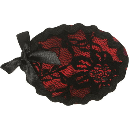 Loftus Sexy Lady Pirate Lace & Bow Eye Patch, Black Red, One Size (2.5