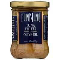 Tonnino Tuna Fillets in Olive Oil, 6.7 oz Jar