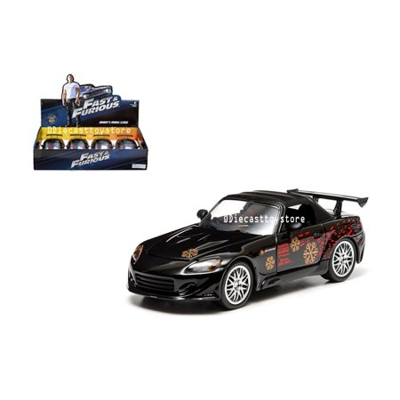 JADA 1:24 DISPLAY - FAST & FURIOUS - JOHNNY'S 2001 HONDA S2000 (BLACK) 1 ITEM WITHOUT RETAIL BOX