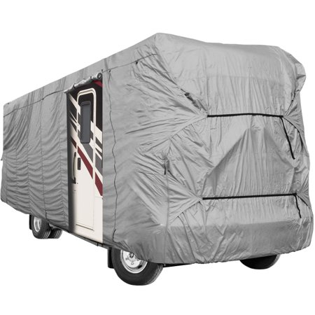 Waterproof Superior RV Motorhome Fifth Wheel Cover Covers Class A B C Fits Length 20'-25' New Travel Trailer Camper Zippered Panels Allow Access To The Door, Engine And Both Side Storage