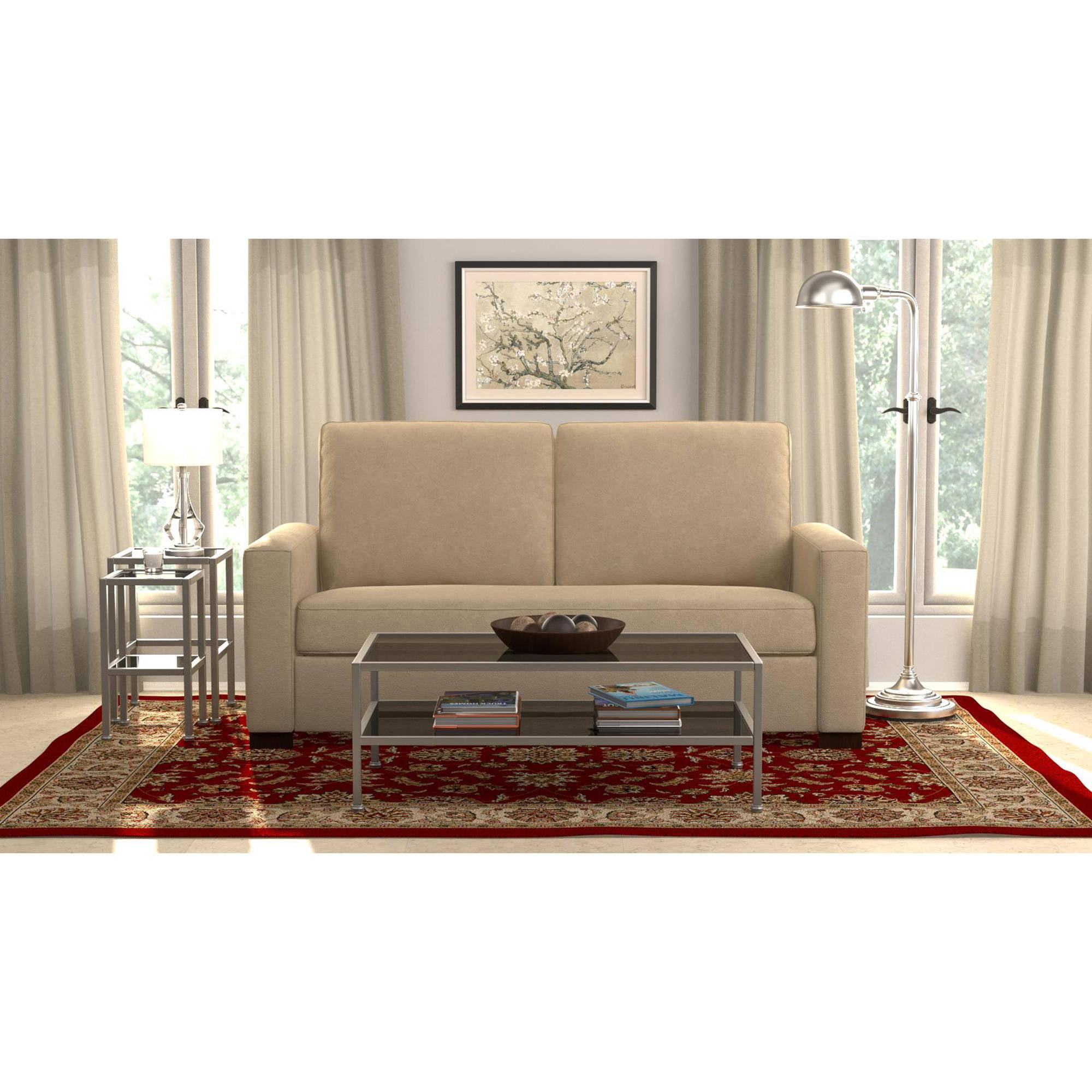 Millona SoFast Compact Microfiber Sofa, Multiple Colors