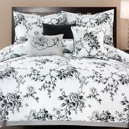 6-Piece Rose Hill Cotton Comforter Set