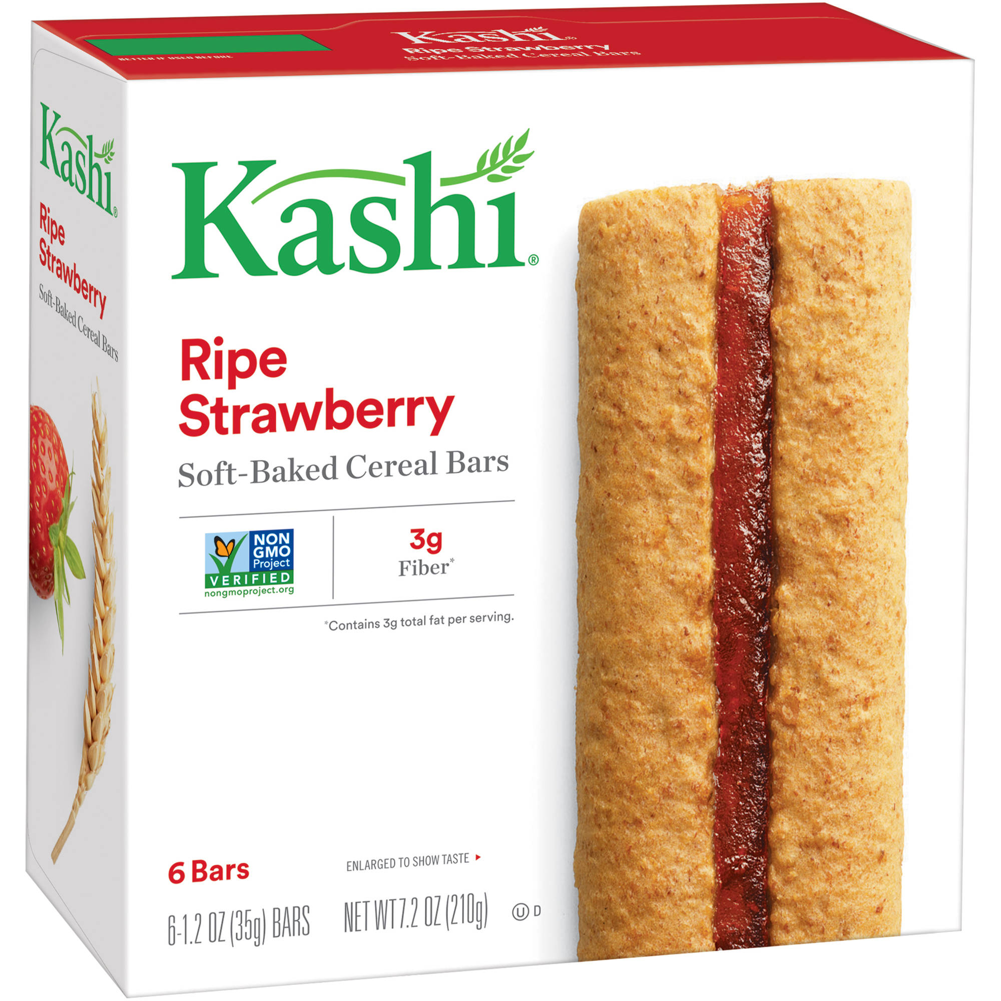Kashi Ripe Strawberry Soft Baked Cereal Bars, 6 ct 7.2 oz