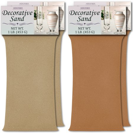 HeroFiber Colored Unity Sand (4 lbs.) - Latte and Cocoa Brown - 2 lbs. per Color - Decorative Art Sand for Weddings, Vase Filling, Kids' Craft