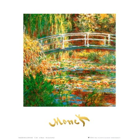 Water Lily Pond Art Print By Claude Monet - 10x12