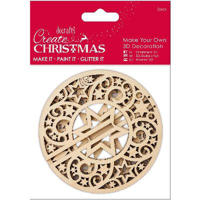 Papermania Create Christmas Make Your Own 3D Ornament-Star