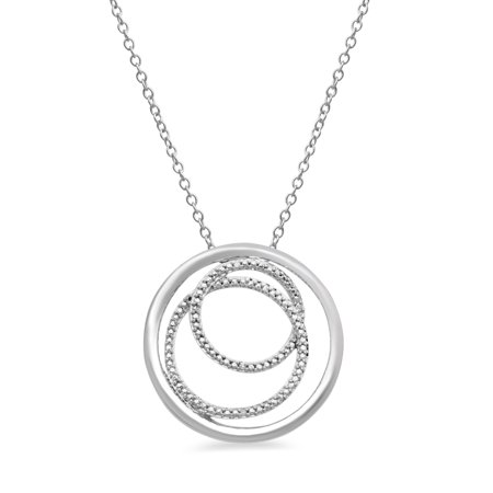Diamond pendant necklace in sterling silver walmart diamond pendant necklace in sterling silver aloadofball Images