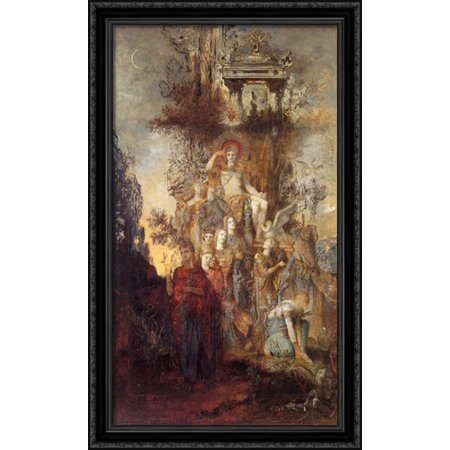 The Muses Leaving Their Father Apollo To Go Out And Light The World 24X40 Large Black Ornate Wood Framed Canvas Art By Gustave Moreau
