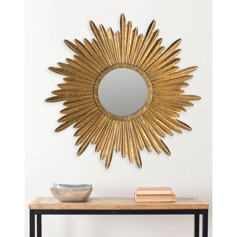 Safavieh Josephine Sunburst Mirror, Antique Gold