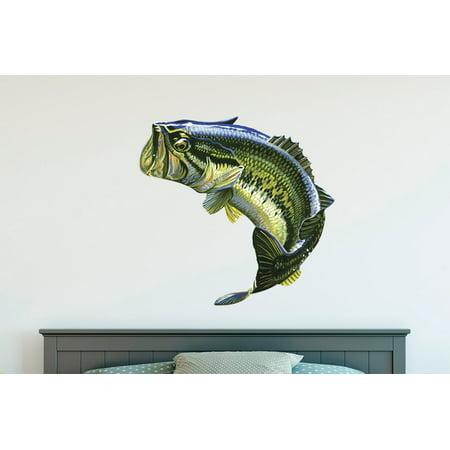 Largemouth Bass Realistic - Wall Decal Wall Decoration Sticker Sticker 22