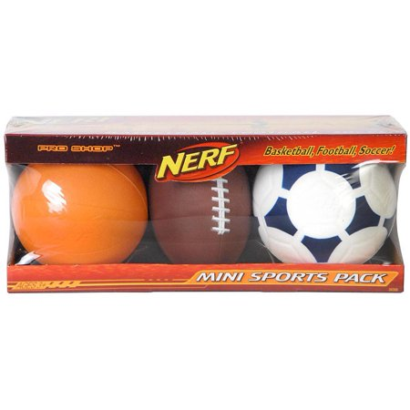 nerf mini sports ball 3 pack. Black Bedroom Furniture Sets. Home Design Ideas