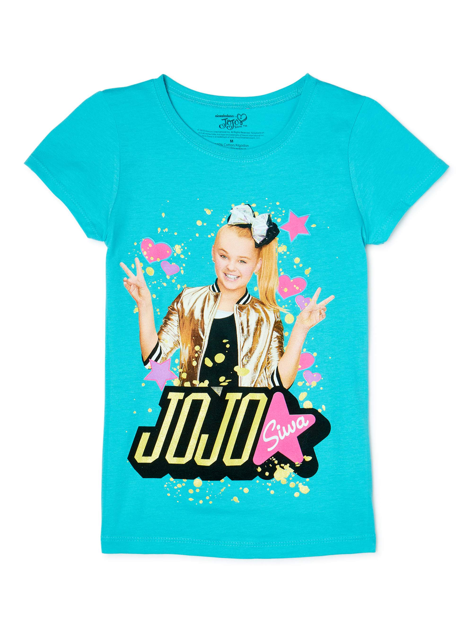 Jojo Siwa Kids Girls Be Your Own Star Short SweatShirt Tops Clothes+trousers New