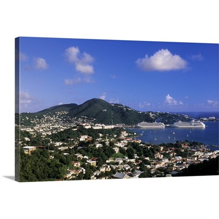 Great Big Canvas Michael Defreitas Premium Thick Wrap Canvas Entitled Cruise Ship St  Thomas  Caribbean