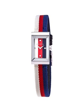 Gucci G-Frame White/Red/Blue Dial Ladies Watch YA147508