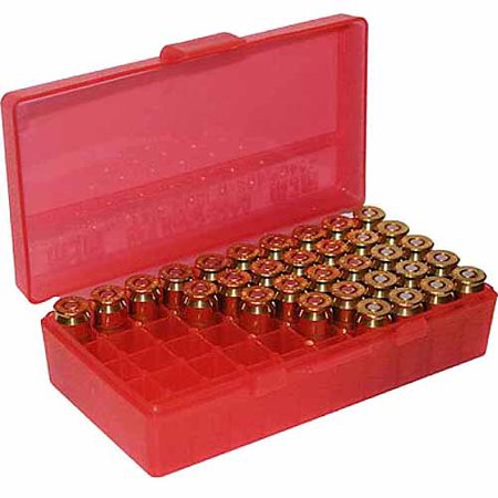 MTM FLIP TOP HANDGUN AMMO BOX P-50 SERIES