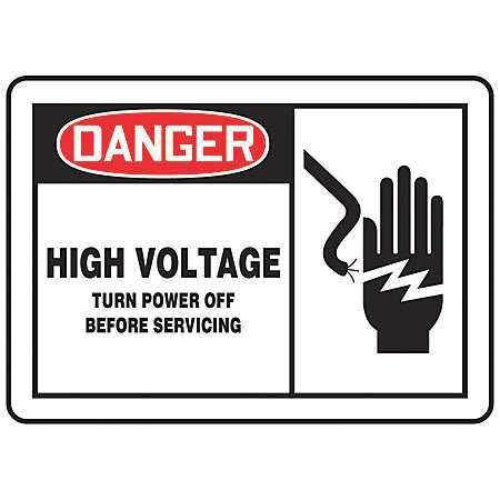 ACCUFORM SIGNS LELC054VSP Safety Label, 3-1/2 In. H, 5 In. W, PK5