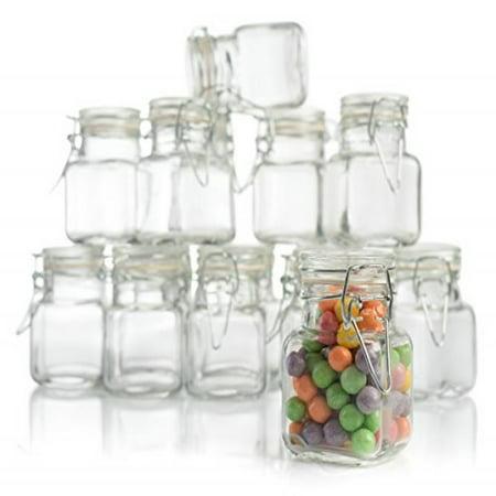 stock your home 3 oz glass jar with snap lid 48 jars. Black Bedroom Furniture Sets. Home Design Ideas