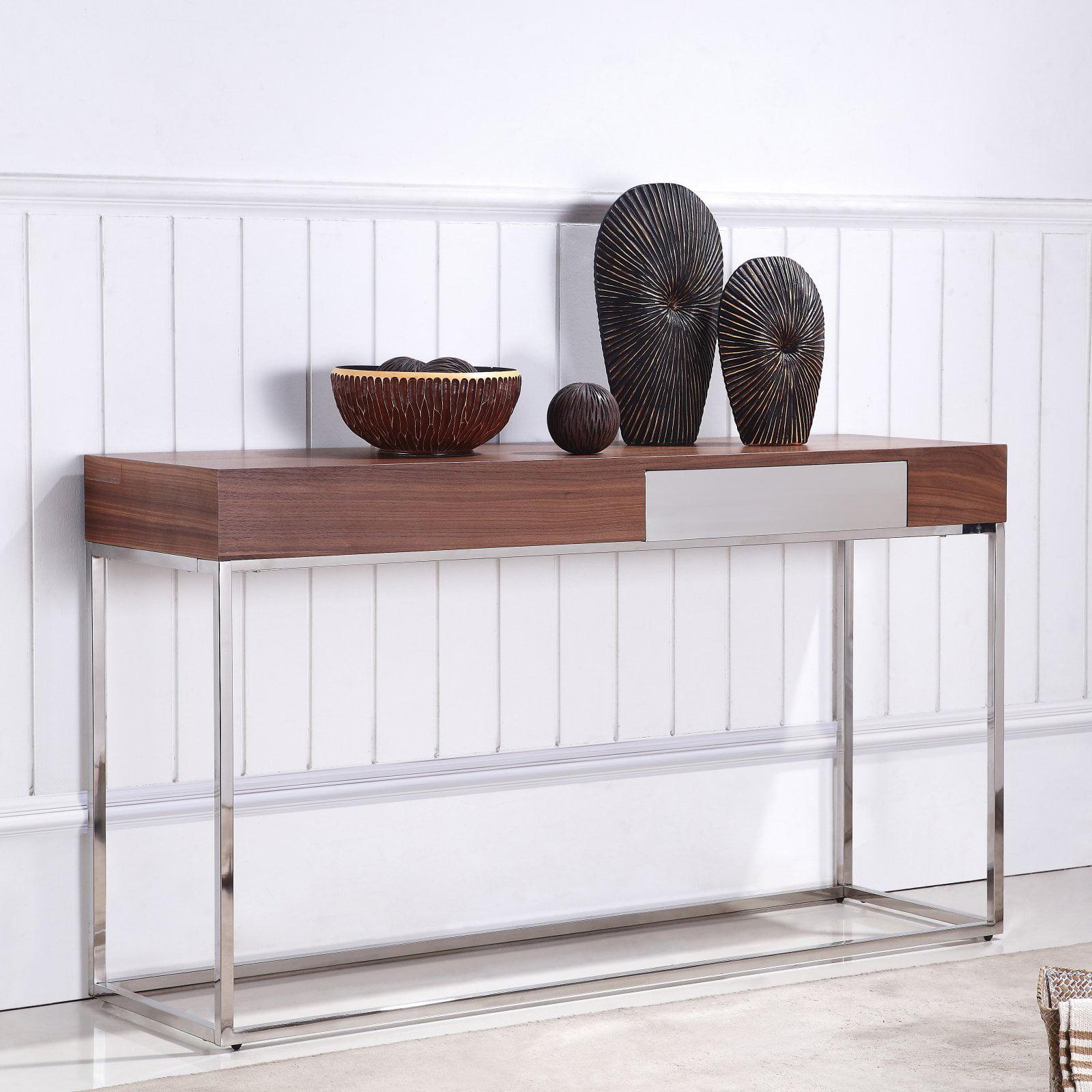 Talenti Casa Giga Collection Walnut Veneer Console Table