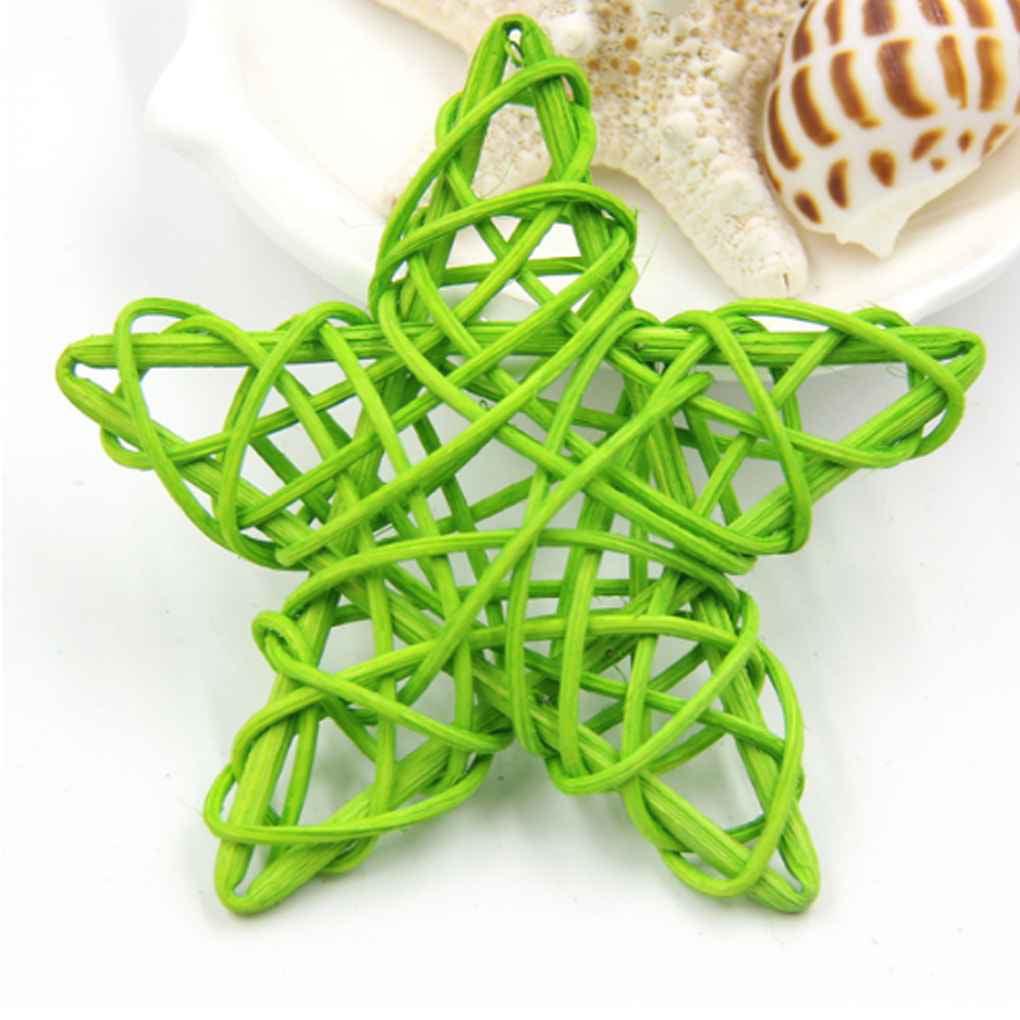 5PCS 6cm Star Rattan Ball Plaited Vine DIY Home Party Birthday Ornaments Decor