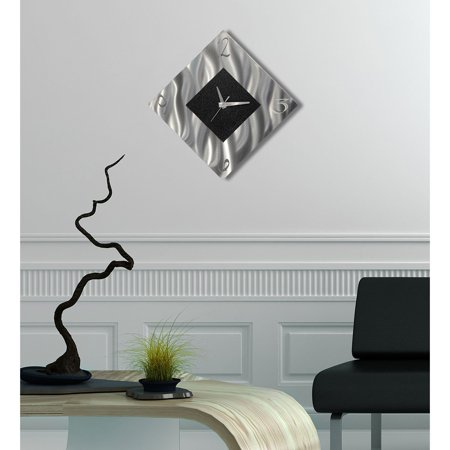 Black Metal Decorative Wall Clock, Abstract Modern Clock for Living Room or  Kitchen, Jon Allen Metal Art, Prediction Clock