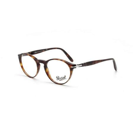 ef2f8a0791b Persol Men s PO3092V 9015 50 Round Plastic Havana Clear Eyeglasses -  Walmart.com
