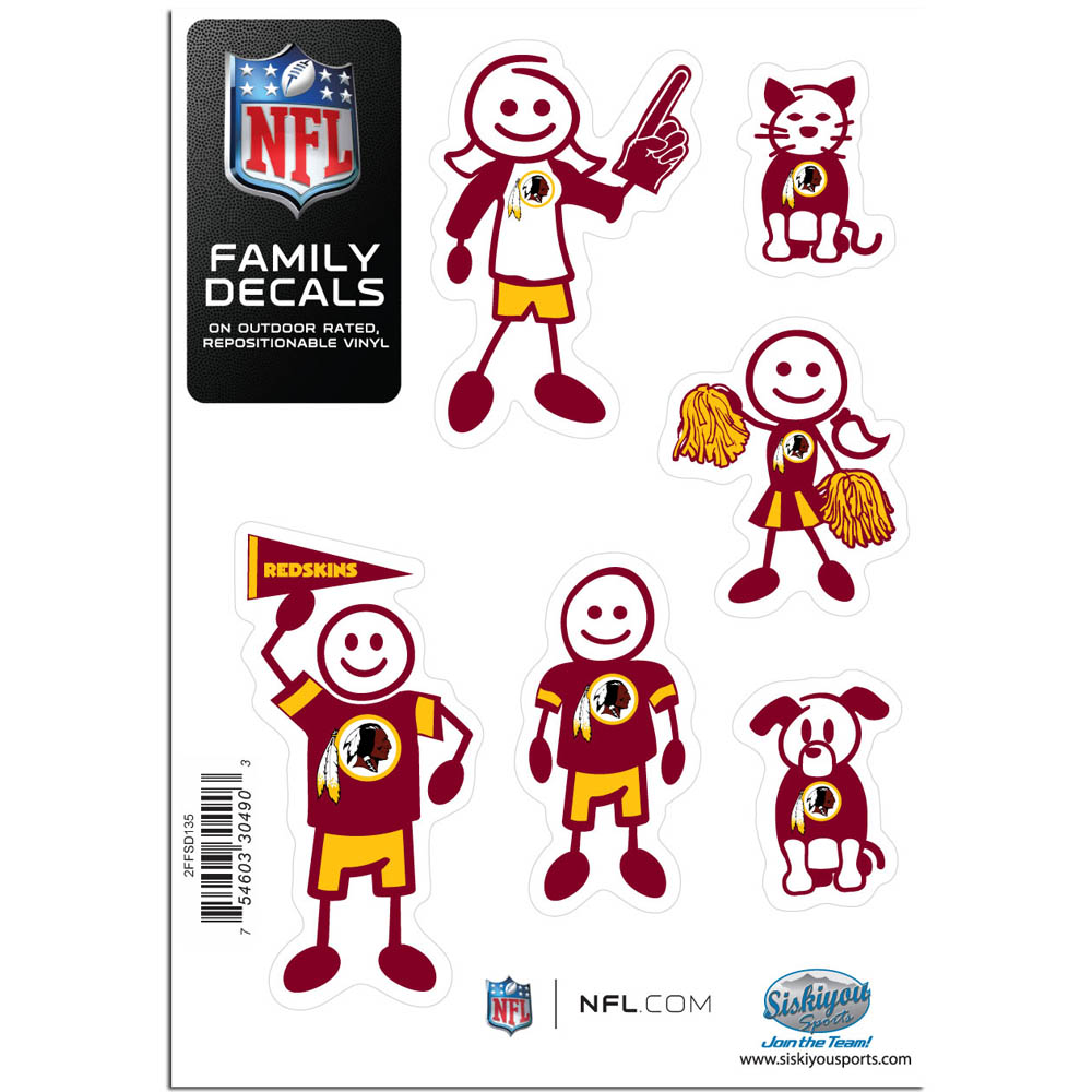 Washington Redskins Official NFL Small Family Decal Set by Siskiyou 304903