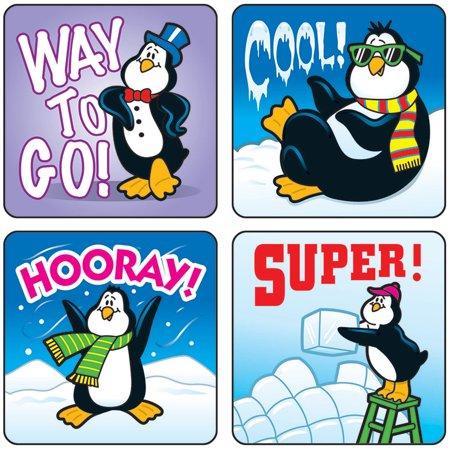 Stickers Penguins 120 Pk Acid   Lignin Free