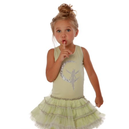 Pixie Girl Presents (Ooh! La, La! Couture Girls Lime Sparkle Sequin Pixie Tutu)