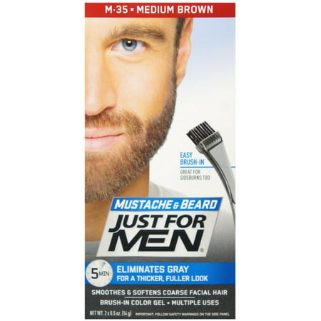 JUST FOR MEN Color Gel Mustache & Beard M-35 Medium Brown 1